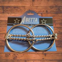 """Double Twisted Wire Loose Ring Snaffle Bit 5"""" Mouth image 2"""