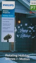 Philips Christmas LED Motion Projector Rotating Happy Holidays Scene Cool White image 2