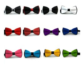 Classic Bow Ties for Men - Pre-tied Adjustable Length Bowtie Many Colors - $5.99