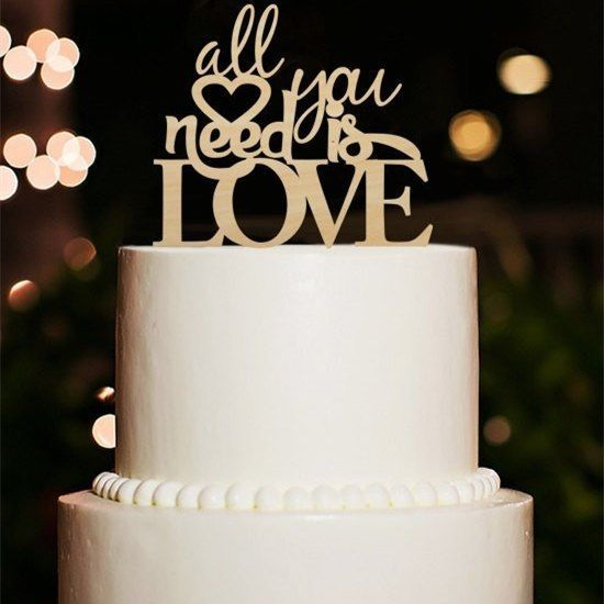 Buythrow® All You Need Is Love Wedding Cake Topper Romantic Love Engagement
