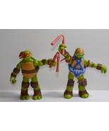 """Viacom 2013/2012 Teenage Mutant Ninja Turtles TMNT Michelangelo 4.5"""" Fig... - $9.49"""