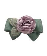 Retro Artificial Rose Flower Cloth Hair Pin Handmade Bowknot Hair Barret... - $12.65