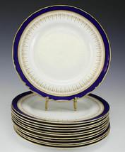 Royal Worcester Regency Blue/White Dinner Plates - $80.00