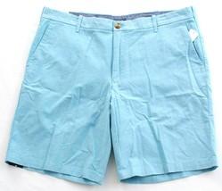 Izod Newport Oxford Blue Flat Front Cotton Casual Shorts Men's NWT - $37.49