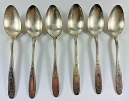 Silver plate Community Plate 1921 GROSVENOR Spoons Teaspoons Set of 6 - $22.76