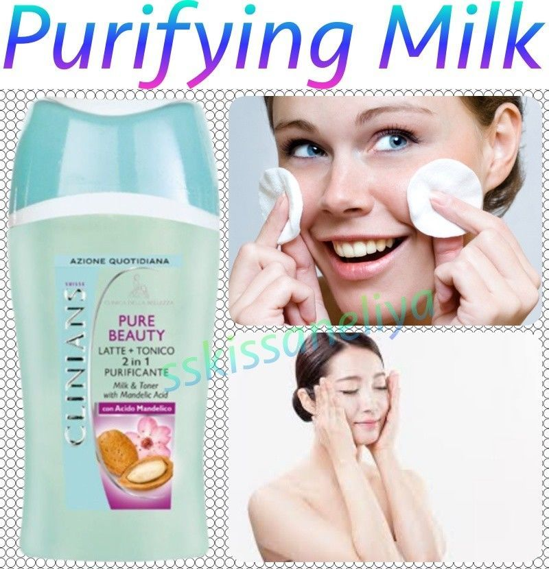 CLINIANS Pure Beauty Purifying Milk and Toner 2 in 1 with Mandelic Acid 200ml. - $13.85