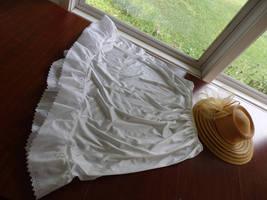 Half Slips, Slip Extenders, Slips,White Eyelet Slips, Eyelet edged skirt, White  image 3