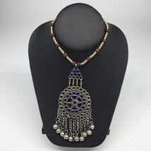 Kuchi Necklace Afghan Tribal Fashion Colorful Glass ATS Necktie Necklace... - $7.43