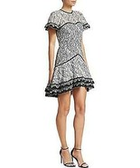 2019 NEW AUTH Jonathan Simkhai Multimedia Corded Lace Ruffle Hem Dress $695 - $245.65