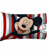 Mickey Mouse Stripes Pillow Case Multi-Color - $21.98