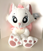 Disney Parks Marie Cat Kitten Large Big Feet Plush Doll 18 inches NEW - $74.90