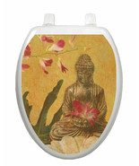 Toilet Tattoos Toilet Seat Lid Decor Serenity Buddah Lid Cover Ships Free - $16.99