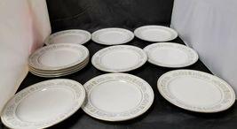 Rose China: 71 Piece Set, Joyce 2104, White w Gold Trim, Fine China, Japan image 3