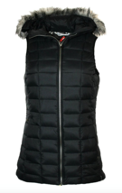 Columbia Women Backcountry Blizzard Vest XS-S Black Omni Heat Hooded Jacket - $68.17