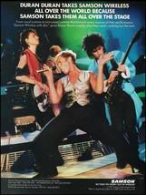 Duran Duran Simon Le Bon 1987 Samson Wireless Microphone ad 8 x 11 adver... - $4.50
