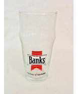 Banks Beer of Barbados Lager Beer Glass Caribbean Collectible Glass Always - $16.14