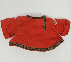 VINTAGE CABBAGE PATCH KIDS DOLL RED ASIAN SHIRT / TOP WITH DECORATIVE TRIM - $10.76