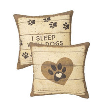 "Sleep with Dogs  Pillow Primitives by Kathy 12"" by 12"" Dog - $22.99"