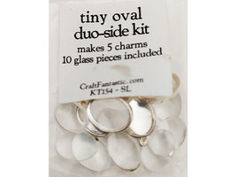 Craft Fantastic Tiny Oval Duo-Side Kit, Makes 5 Charms #KT154-SL