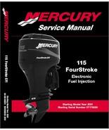 Mercury 115 FourStroke EFI Outboard Motor Service Repair Manual CD - $12.00