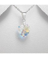 Heart shaped crystal glass pendant - $23.95