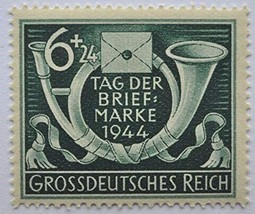 1944 WWII Posthorn Stamp Day Germany Postage Stamp Catalog Number B288 MNH