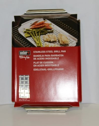 Weber Style 6435 Stainless Steel Grill Pan Slitted Durable