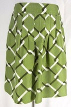 BANANA REPUBLIC 100% Silk Green Geo Print Pencil Skirt 4 S Career Flat W... - $19.99