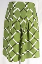 BANANA REPUBLIC 100% Silk Green Geo Print Pencil Skirt 4 S Career Flat W... - $19.99