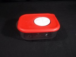 Tupperware Rock N Serve 1 Cup Container 3387 Red Lid Microwave Reheatable - $8.86