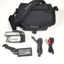 Sony Handycam DCR-DVD92 Camcorder 20X Zoom W/ Nightshot DVD-RW Extras - $56.09