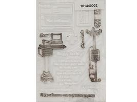 Raisin Boat Goes with Hope Medical Gal Clear Acrylic Stamp Set #10144 image 2