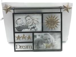 Sun Stars Dream Picture Photo Frame 2 6x4 Openings Copper Nursery Baby U... - $24.92
