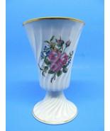 Havilan Limoges France Vintage Porcelain Swirl Vase Floral Design - $19.59