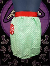 Cooking Peppermint Mint Green Pinup Apron Cooking Baking Skirt Christmas... - $9.99