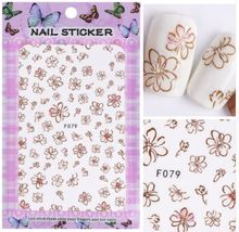 "HS Store - 1 pcs ""F-079"" 3D Sweet Beauty Flower Sticker Nail Art Decal Nail - $2.62"