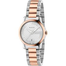Gucci YA126528 Silver Dial Stainless Steel Strap Ladies Watch - $664.99