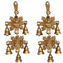 Aakrati Wind Chimes Made In Metal With Laxmi Ganesh Figure Brown - $52.99