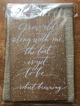 "Hallmark signature greeting card Anniversary Wedding Grow Old With Me ""B... - $7.69"