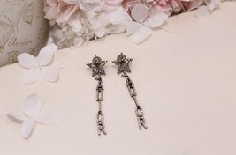 Authentic Christian Dior Star Crystal J'ADIOR Dangle Drop EARRINGS  image 3