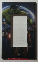 Captain America Iron Man Hulk Comic Hero Light Switch Outlet Cover Plate decor image 2