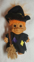 "Vintage 1963 Halloween Witch Troll Doll 6 1/2"" Tall - Russ - Excellent C... - $15.00"