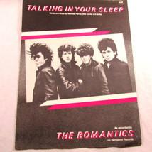 Talking in Your Sleep Sheet Music The Romantics Vintage 1983 Cover Art U... - $14.98