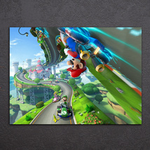 1 Pcs Super Mario Cars Game Wall Picture Home Decor Printed Canvas Painting - $29.99+