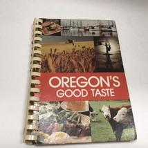 Vintage Cookbook Oregon's Good Taste American Cancer Society 1st Print V... - $10.64