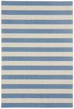 "5x8 (5'3"" x 7'6"") Nautical Tropical Coastal Blue Stripe Indoor Outdoor A... - €112,46 EUR"