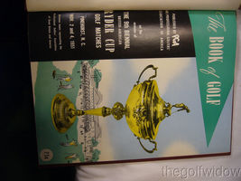 1951 Ryder Cup Pinehurst Program and Book of Golf by the PGA of America HC image 7