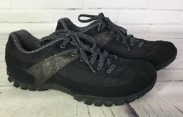 Easy Spirit Womens Size 7.5 Nambu Walking Shoes Sneakers Black Suede Lea... - €25,29 EUR