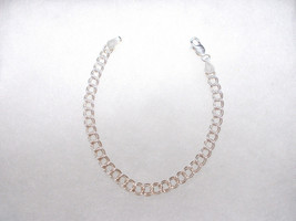 """New 925 Sterling Silver Double Curb Link Chain 7"""" Bracelet Add Your Charms - $18.99"""