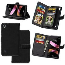 XYX LG X Style Case,LG Tribute HD Wallet Case,[Black][Vintage Scrub Seri... - $12.86
